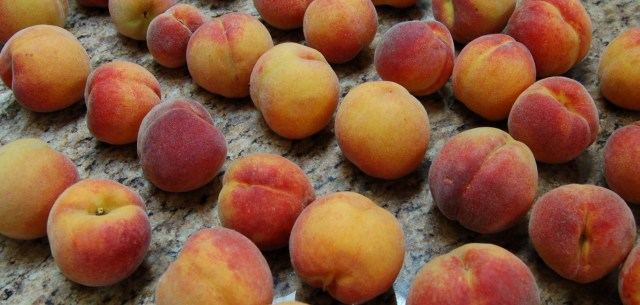 Frost peaches