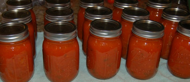 Second batch of tomato sauce