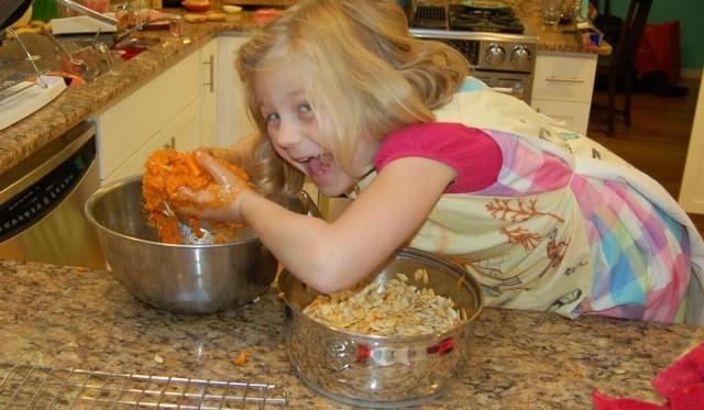 """Pumpkin guts - """"Mwaa ha ha ha"""""""