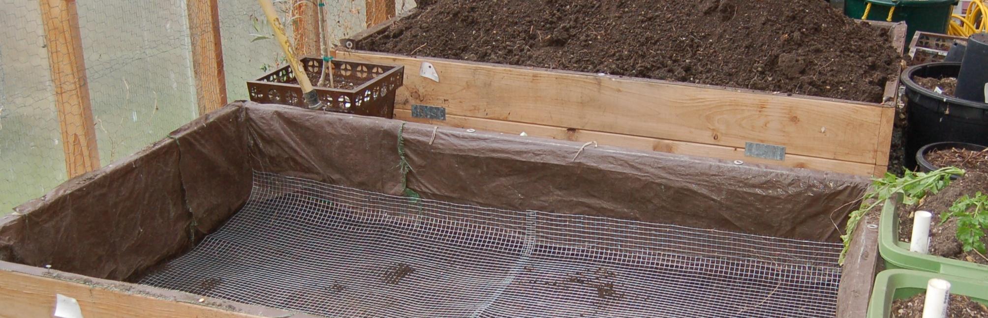 Mole Proof Raised Beds