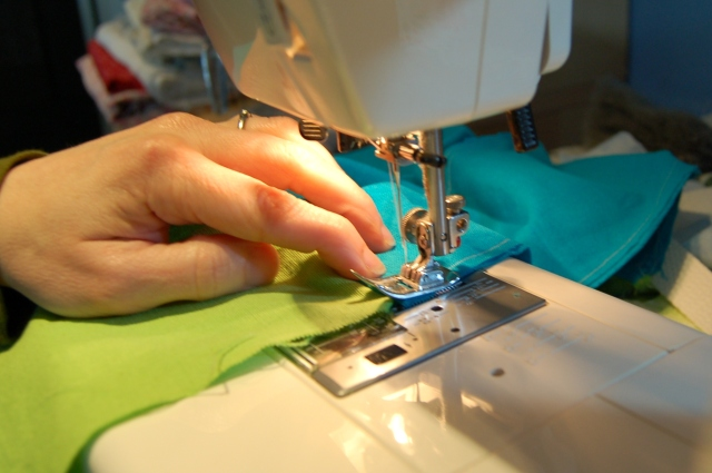 Sew sides and bottom onto main panels